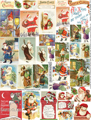 Santa is Outside Collage Sheet