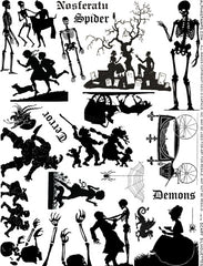 Scary Silhouettes Collage Sheet