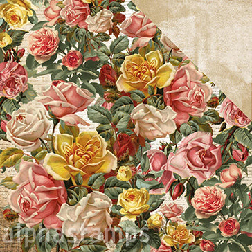 Scrap Studio Roses & Gritty Scrapbook Paper
