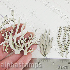 Chipboard Tall Seaweed Silhouettes