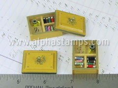 Miniature Vintage Sewing Box