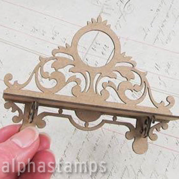 Small Chipboard Victorian Wall Shelf
