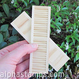 1:12 Wooden Louvered Shutters