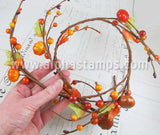 Mini Twig & Pumpkin Garland*