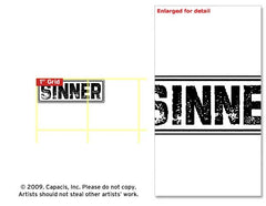 Curses - Sinner Rubber Stamp