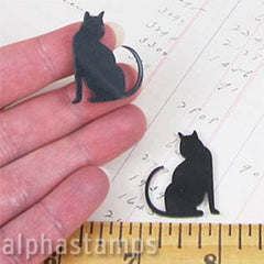 Acrylic Black Sitting Cat Cut-Outs