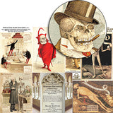 Skeleton Slide Mailers Collage Sheet