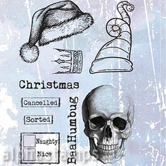 Skullduggery Cling Stamp Set*
