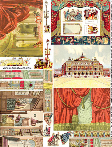 Small Nouveau Theatre Collage Sheet