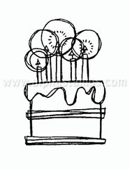 Small Cake Rubber Stamp*