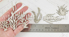 Chipboard Shorter Seaweed Silhouettes