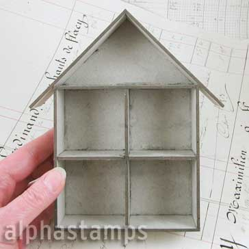 Mini House Room Box - 4 Cubbies (1:48)