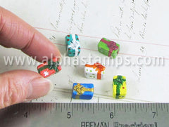 Tiny Ceramic Christmas Present Bead*
