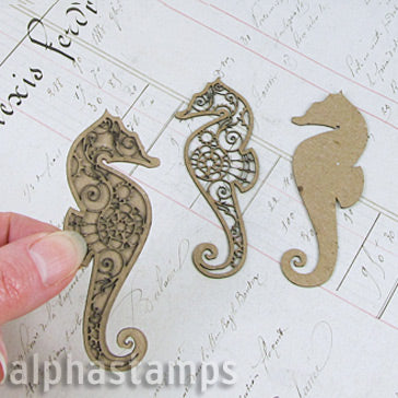 Mini Steampunk Seahorses - Set of 2