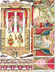 Small Theatre Curtains Pink Collage Sheet