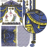 Small Theatre of the Moon Curtains Collage Sheet