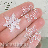 1 Inch Clear Acrylic Snowflake Mix