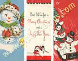 Snowman Gift Tags Collage Sheet