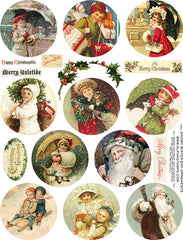 Snowy Winter Day Ornaments Collage Sheet