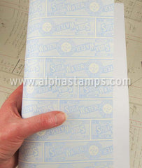 Blue Soda Label Scrapbook Paper*