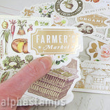 Spring Farmhouse Cardstock Ephemera with Foil Accents