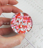 Polymer Clay Valentine Hearts Slice Mix