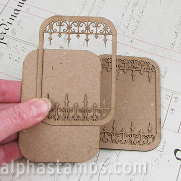 Wrought Iron ATC Card - Staggered Points