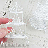 Miniature White Wire Corner Stand