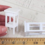 Miniature White Stand