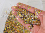 Stardust Iridescent Gold & Purple Sequin Mix