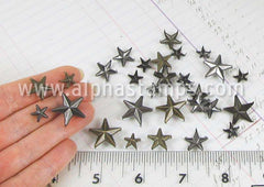 Antique 3D Metal Star Studs Set*