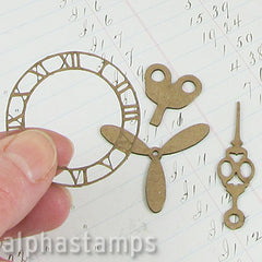 Steampunk Gears Chipboard Set