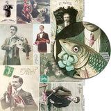 Strange Fish Collage Sheet