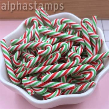 Red & Green Mini Candy Canes