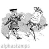 Surly Courtier & Humpty Dumpty Rubber Stamp