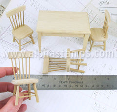 Unfinished Kitchen Table & Chairs Set*