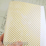 Faded Tan & Cream Stripes Scrapbook Paper