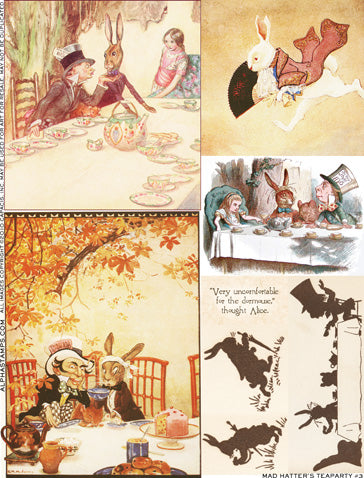 Mad Hatter's Teaparty #3 Collage Sheet