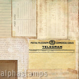 Vintage Telegrams Scrapbook Paper