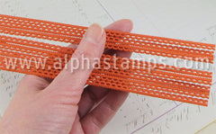 Thin Looped Dresden Borders - Matte Orange