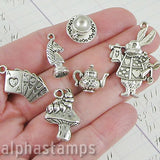 Time for Tea Silver Charms Set