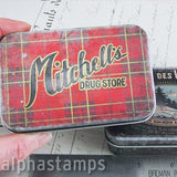 Christmas Repro Metal Trinket Tins - Tim Holtz