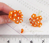 Tiny Mulberry Blossoms - Tangerine Orange*