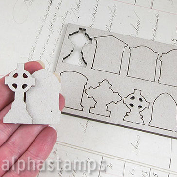 Tiny Tombstones Shape Set