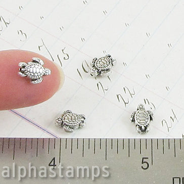 Silver Sea Turtle Spacer Bead