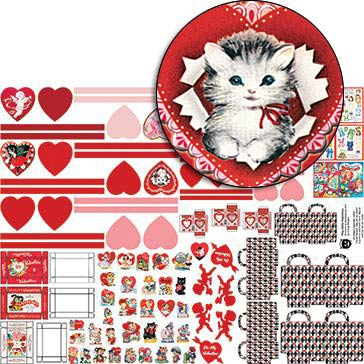 Tiny Little Valentines Collage Sheet