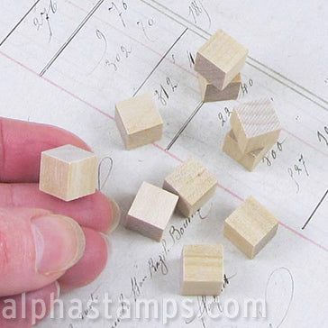 3/8 Inch Wooden Cube Blocks
