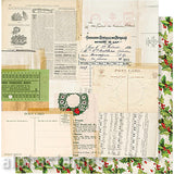 Vintage Christmas 'Tis The Season Scrapbook Paper