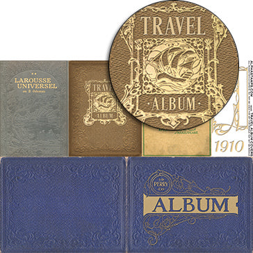 Travel Album Covers Collage Sheet