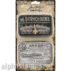 Halloween Repro Metal Trinket Tins - Tim Holtz
